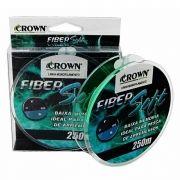 Linha monofilamento Crown Fiber Soft 250m - Verde