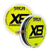 Linha Multifilamento Marine Sports Saga X8 150m - Verde