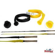 Protetor de Varas Sumax 1,50m - Preto e Amarelo