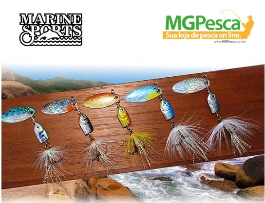 Isca Artificial Marine Sports Spinner Kit MSSP-A-1K5 - 4,4g - 05 unidades  - MGPesca