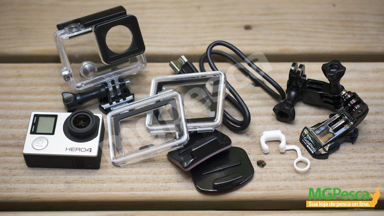 Camera GoPro Hero 4 Silver Edition - 12MP - Wi-Fi - Bluetooth - Full HD  - MGPesca