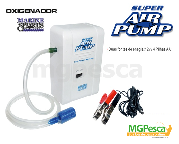 Aerador / Oxigenador Marine Sports Super Air Pump  - MGPesca