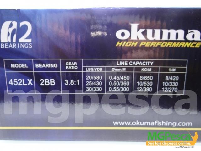 Carretilha Okuma Classic Pro XT CLX-452L - CLX-452LX  - MGPesca