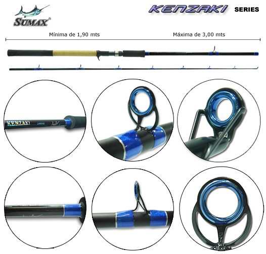 Vara para carretilha Sumax Kenzaki 40 Lbs - LKN2402 - 2,40m - 02 partes  - MGPesca
