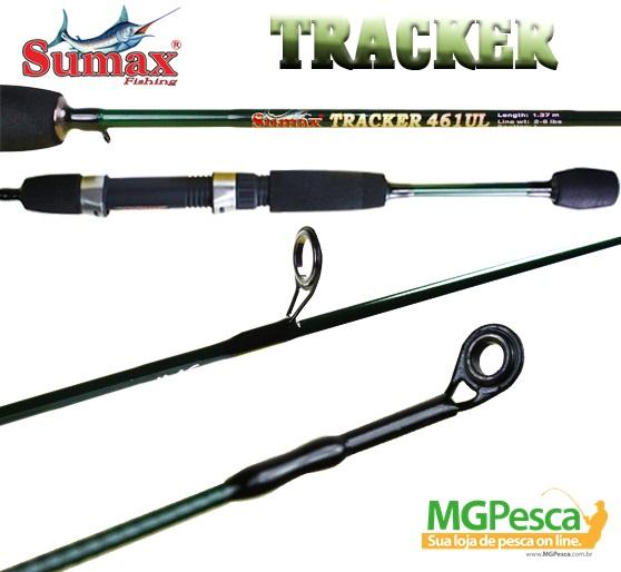 "Vara Sumax Tracker 5"" (1,50m) 6lbs - 501UL - para molinete  - MGPesca"