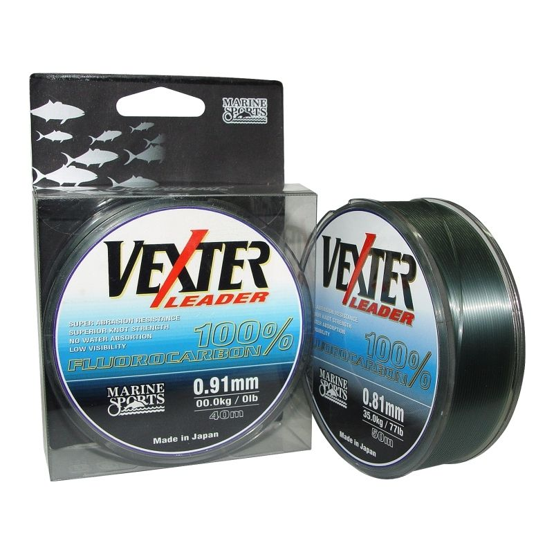 Linha Vexter Leader Fluorcarbon 50m - 0,81mm - 77lb  - MGPesca