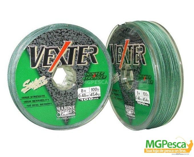 Linha Multifilamento Dyneema Vexter 100m - Marine Sports 0,35mm - 50LB  - MGPesca