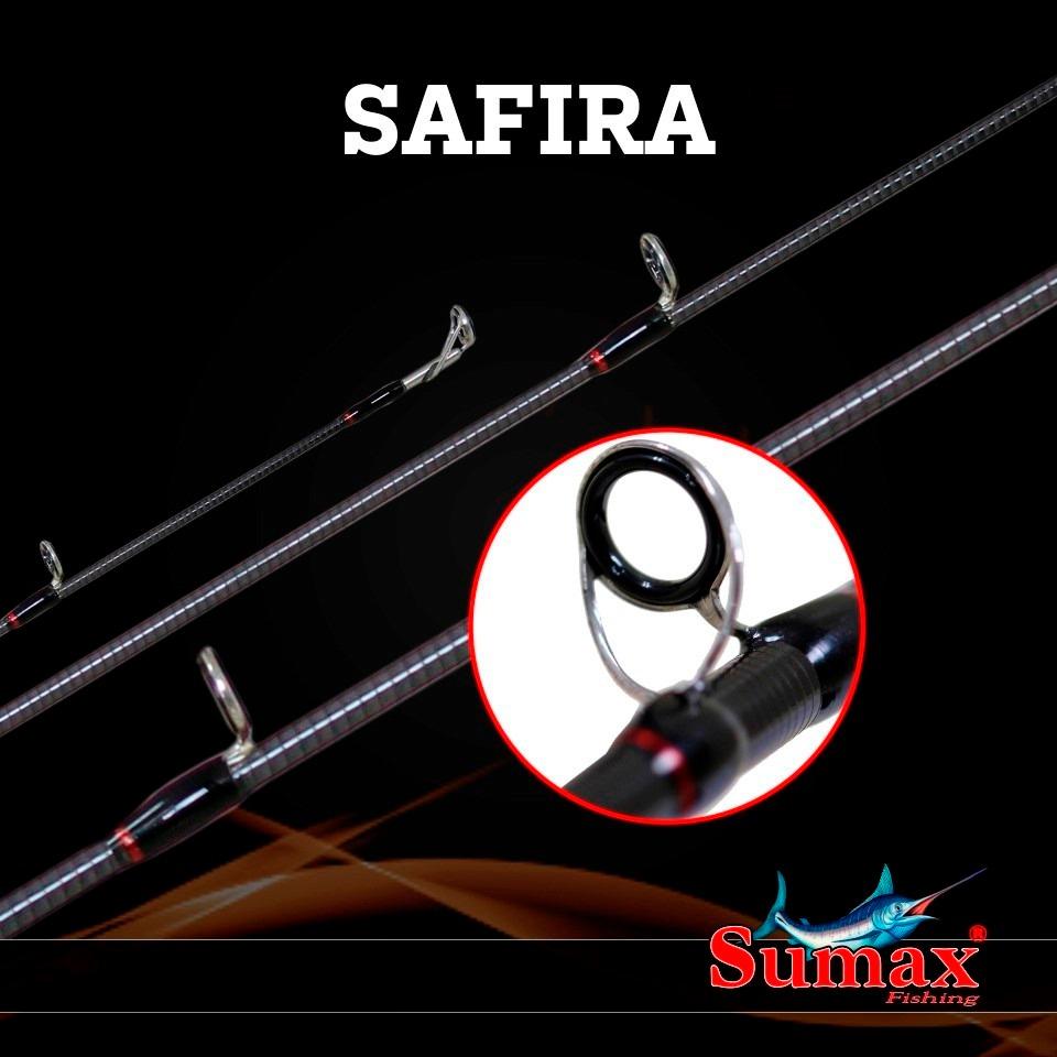 """Vara para carretilha Sumax Safira 6"""" (1,83m) 17 Lbs - LSF-601MC  - MGPesca"""
