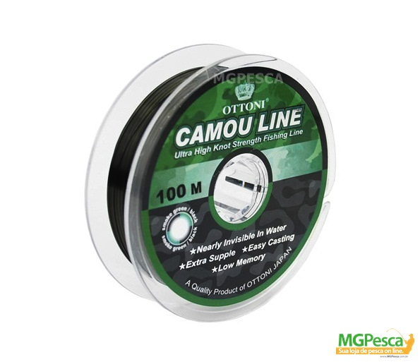 Linha Camou Line 100m - 0,25mm - 19,8lb - Ottoni  - MGPesca