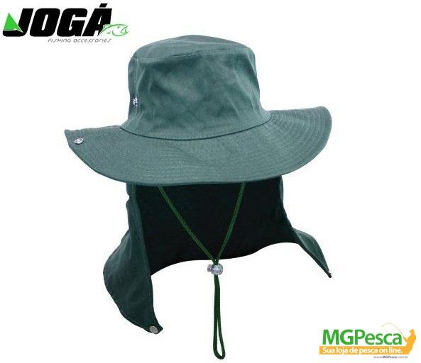 Chapéu JOGÁ Safari - com proteção  - MGPesca