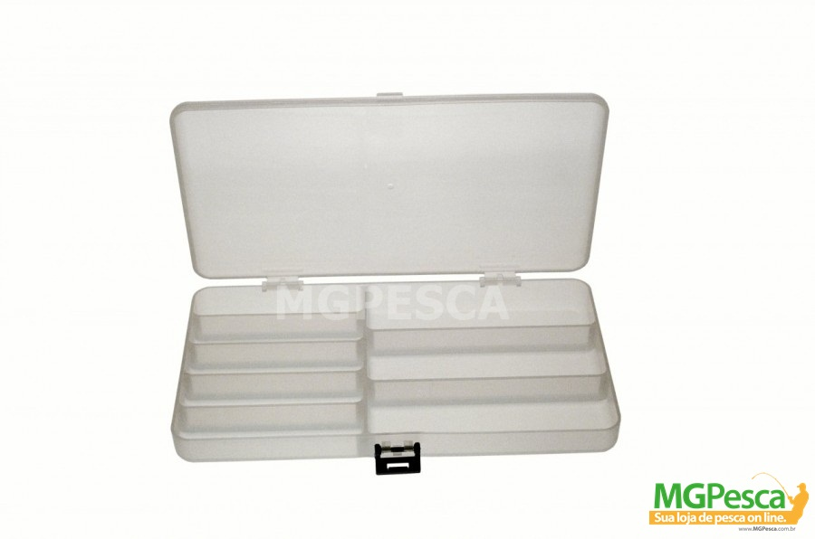 Estojo Porta Isca Nelson Nakamura Lucky Box Mini - 8 divisões fixas  - MGPesca