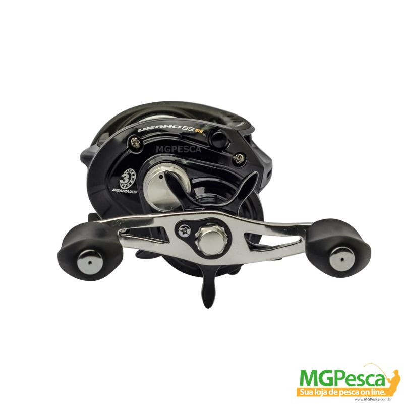 Carretilha Marine Sports Urano GTO Black & Silver - Lançamento  - MGPesca