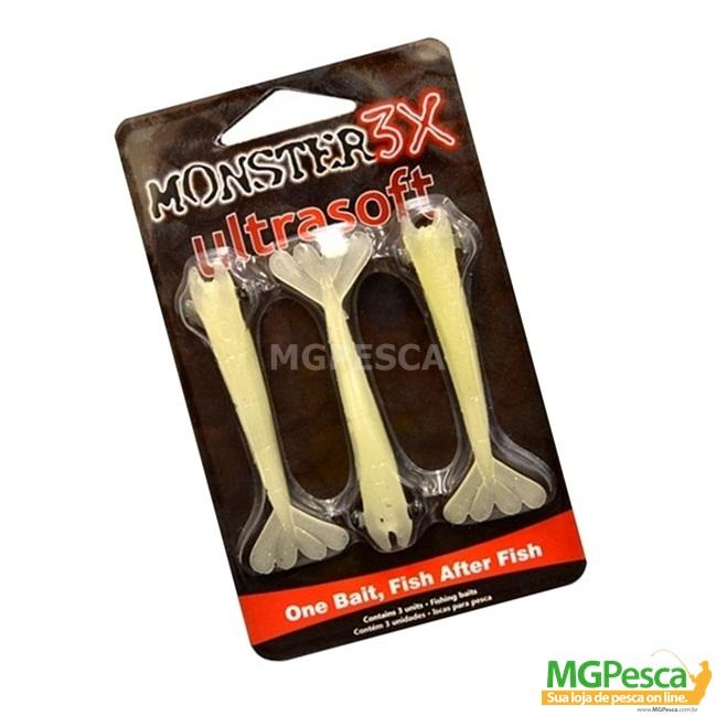 Isca Artificial Monster 3X Camarão Ultrasoft 7,5cm tamanho M  - MGPesca