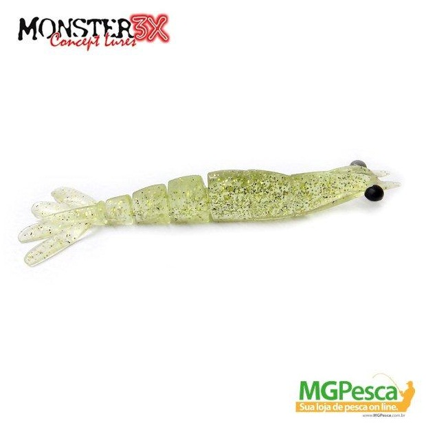 Isca Artificial Monster 3X Camarão X-Move 12cm  - MGPesca