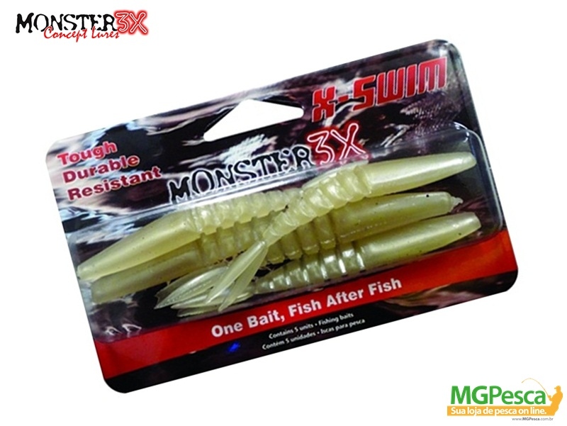 Isca Artificial Monster 3X X-Swim 9cm  - MGPesca