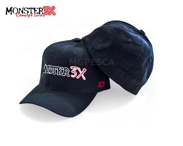 Boné Monster 3X Flex Cap (Flex Fit)  - MGPesca