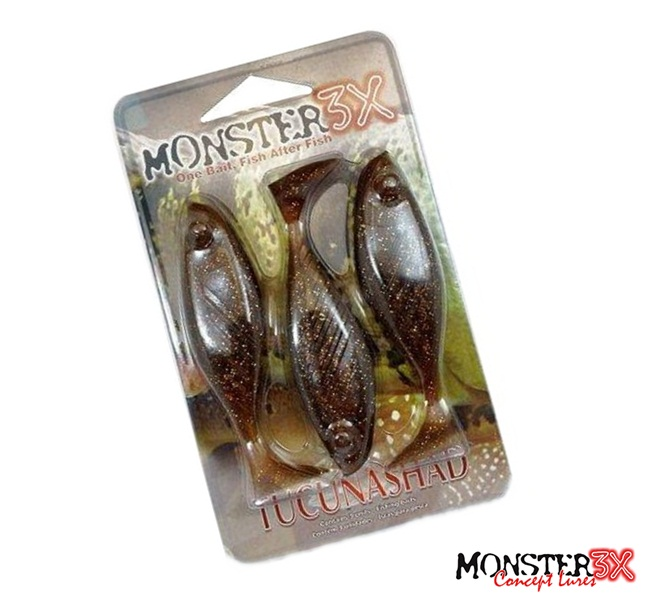 Isca Artificial Monster 3X TucunaShad 10cm  - MGPesca