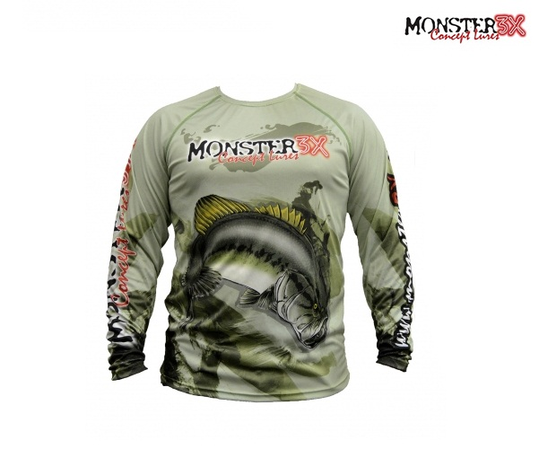 Camisa Monster 3X - Fish Collection - Black Bass  - MGPesca