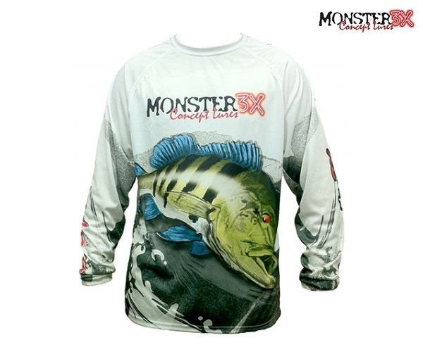 Camisa Monster 3X - Fish Collection - Tucunar� Azul  - MGPesca