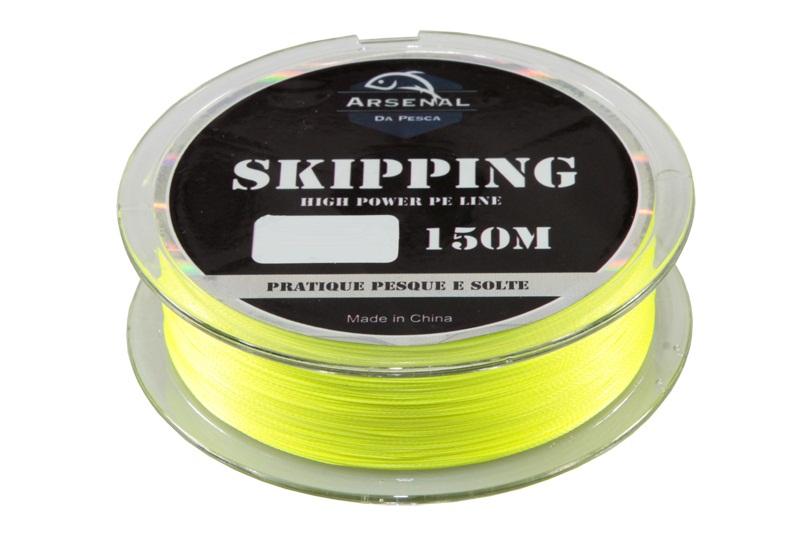 Linha Skipping Multifilamento Arsenal da Pesca 150m Amarela  - MGPesca