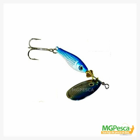 Isca Artificial Marine Sports Spinner Laser Peixinho 8 g  - MGPesca