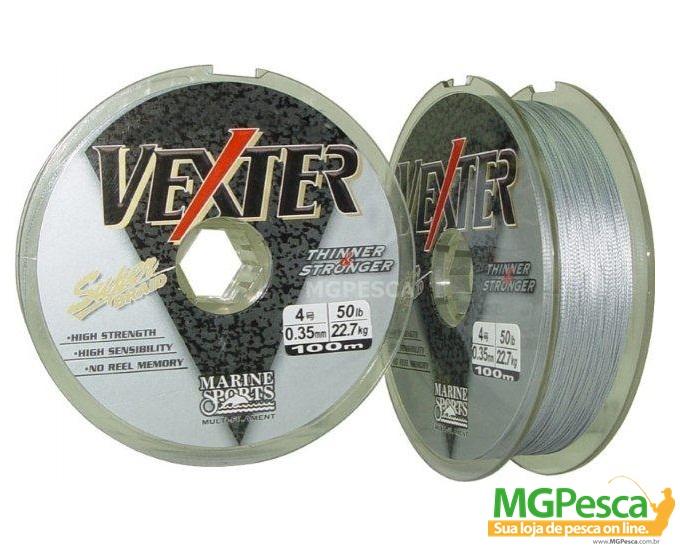 Linha Multifilamento Dyneema Vexter 100m - Marine Sports 0,25 mm - 25 LB  - MGPesca