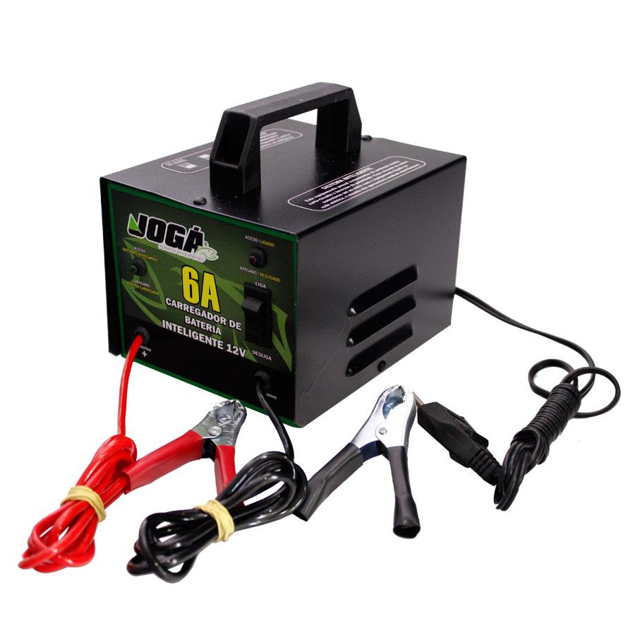 Carregador de Baterias Inteligente Jogá 6A 12V  - MGPesca
