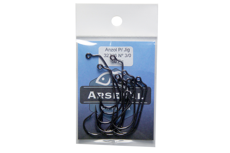 Anzol Arsenal da Pesca - 32786 Jig 60º - Black Nickel  - MGPesca