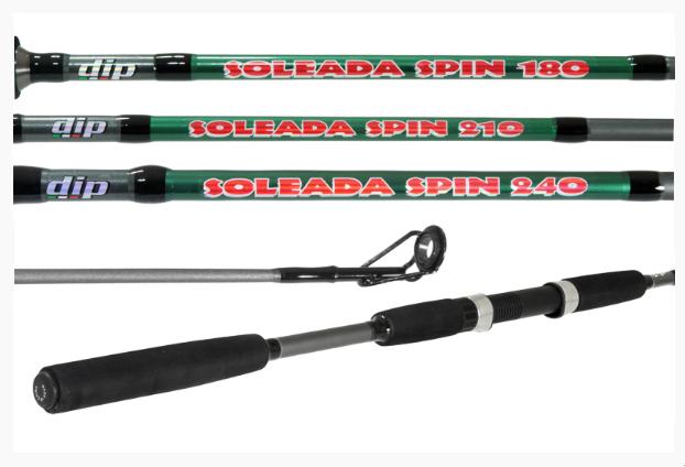 "Vara Arsenal da Pesca DIP Soleada Spin 8"" (2,40m) - 02 partes para molinete  - MGPesca"