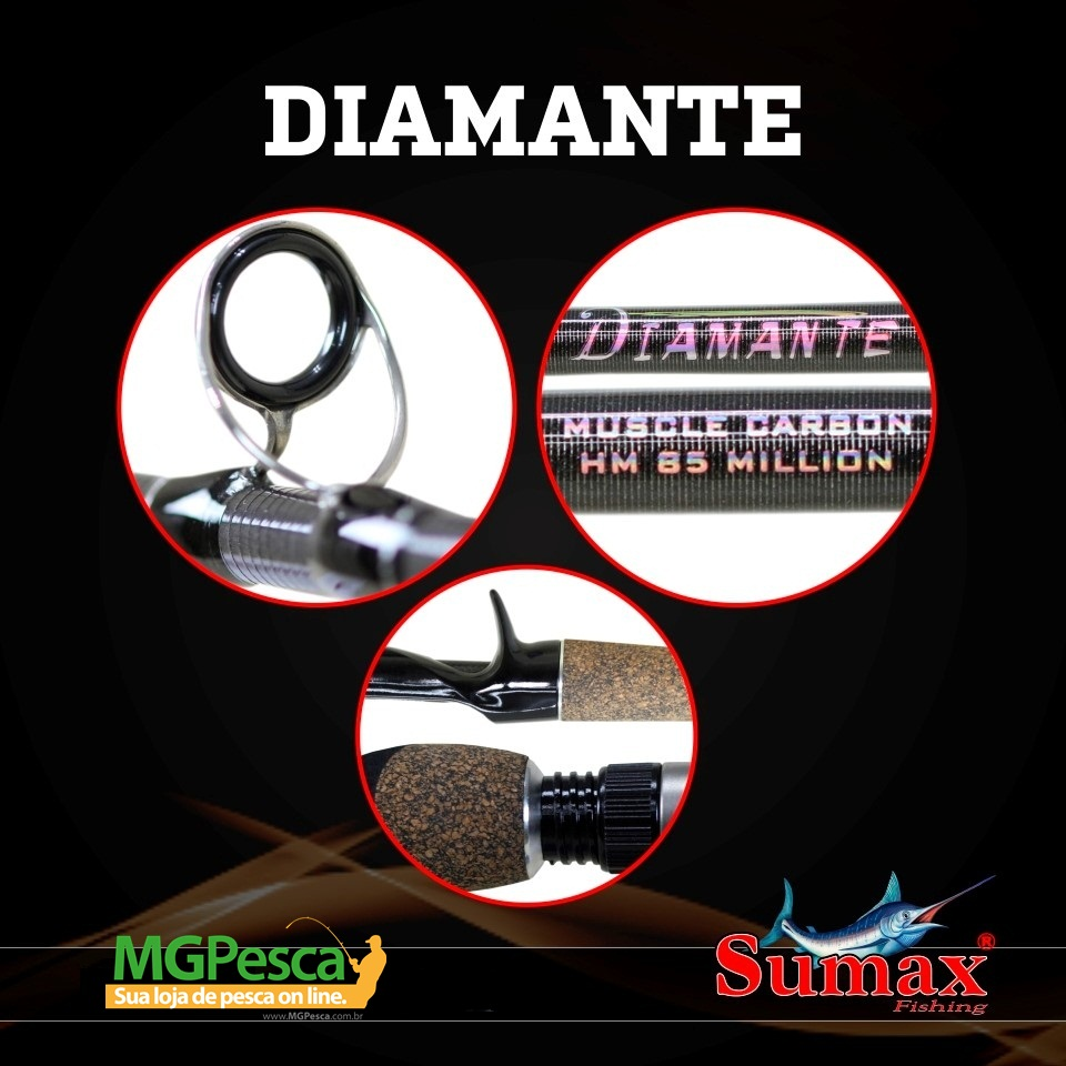 "Vara Sumax Diamante 5´6"" (1,68m) 16Lbs - LDM 561MC  - MGPesca"