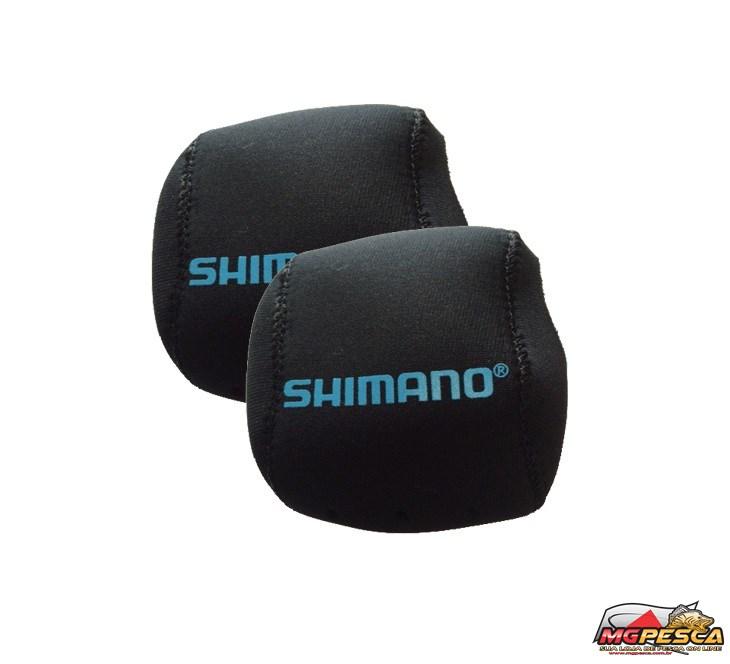 Capa para carretilha Neoprene Shimano Perfil Baixo - Preta  - MGPesca