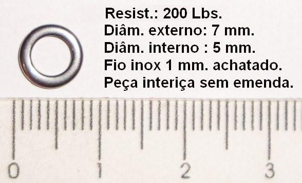Argola Solid Ring Inox 200 Lbs - Glico  - MGPesca
