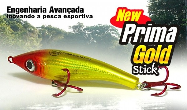 Isca Artificial Zagaia Lures Prima Gold Stick 75 - MGPesca