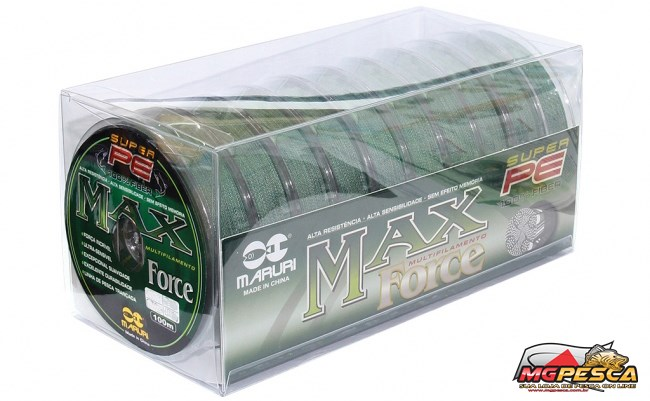 Linha Multifilamento Super PE Max Force 100% Fiber Maruri  - MGPesca