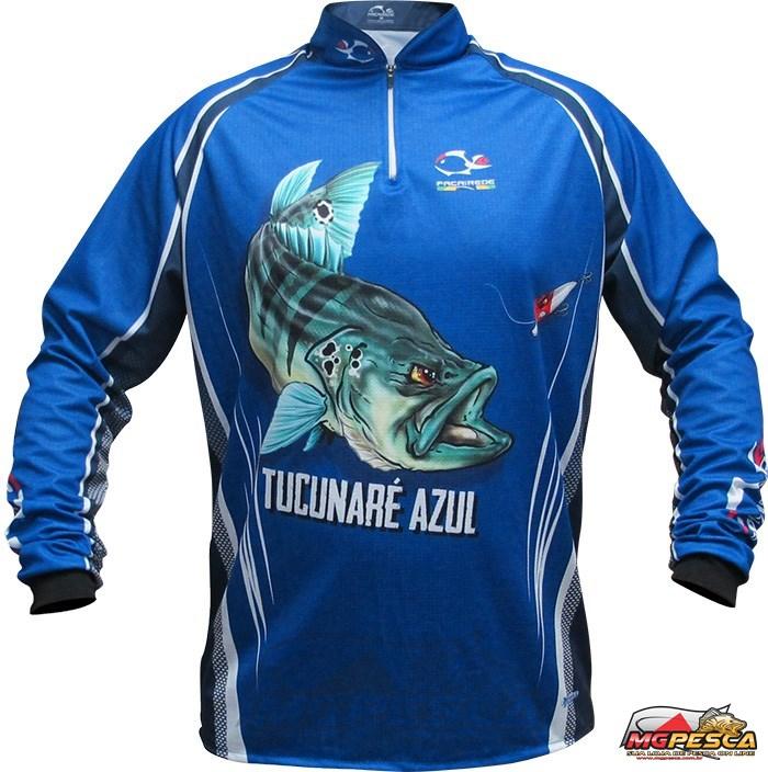 Camisa Faca na Rede Jersey Tucunaré Azul NC 21  - MGPesca