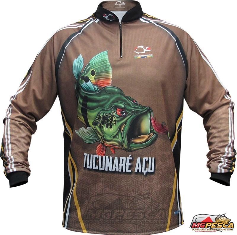 Camisa Faca na Rede Jersey Tucunaré Açu NC 20  - MGPesca