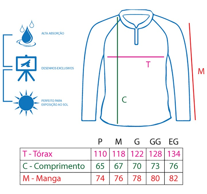 Camiseta King Sublimada - Tucunaré Azul (KFF22)  - MGPesca