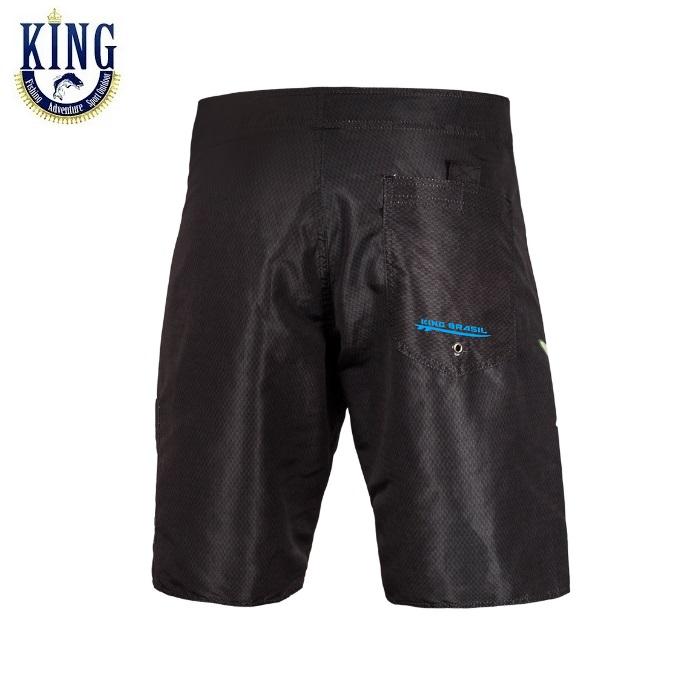 Bermuda Água King Brasil - Tucunaré - Preta - AK02  - MGPesca