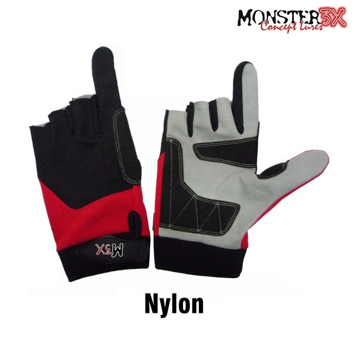 Luva Monster 3X X-Gloves - Lycra e Nylon  - MGPesca