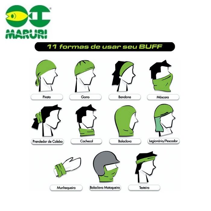 Máscara de proteção solar Maruri - Três Estampas  - MGPesca