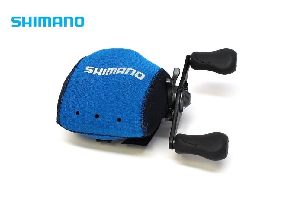 Capa para carretilha Neoprene Shimano Perfil Baixo - Azul  - MGPesca