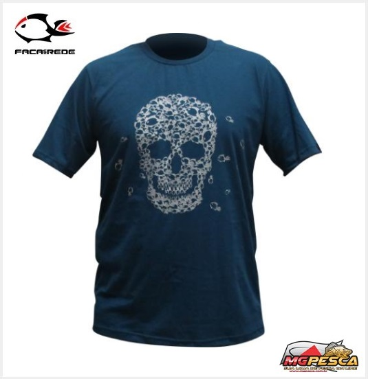 Camiseta Casual Faca na rede T-Shirt Skull  - MGPesca