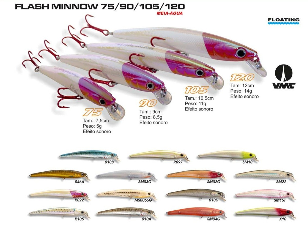 Isca Artificial Marine Sports Flash Minnow F105  - MGPesca