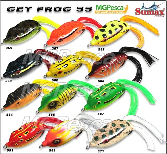 Isca Artificial Sumax Get Frog 55 - SGF-55  - MGPesca