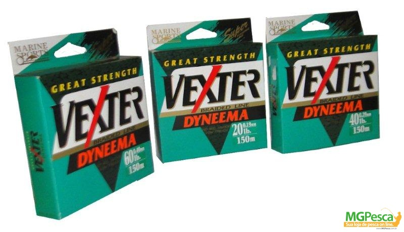 Linha Multifilamento Vexter X4 - 30LB - 0,25mm - 150m Verde Marine Sports  - MGPesca