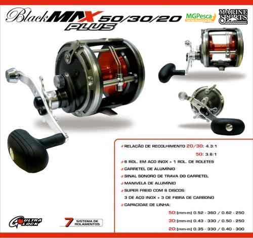 Carretilha Marine Sports Black Max Plus 50  - MGPesca