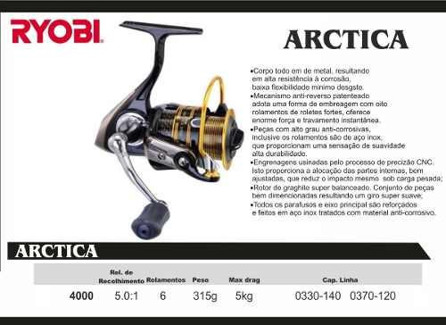 Molinete Ryobi Arctica 3000  - MGPesca