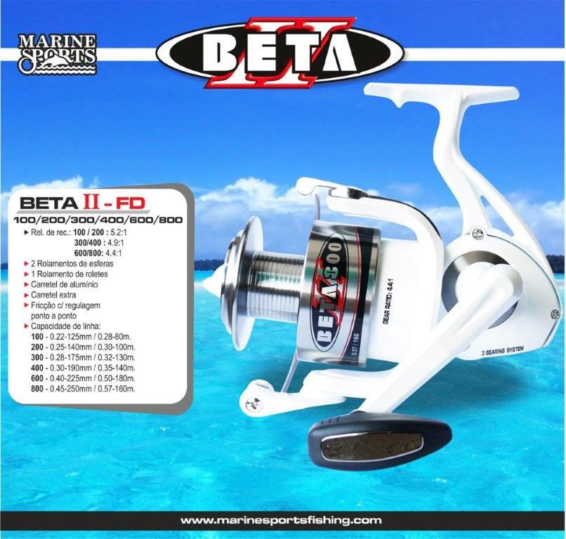 Molinete Marine Sports Beta II 100 - 200 - 300 - 400 - 600 - 800  - MGPesca