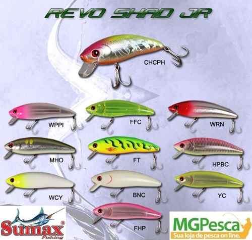 Isca Artificial Sumax Revo Shad Jr 80  - MGPesca