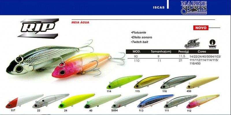 Isca Artificial Marine Sports Rip Z 90  - MGPesca
